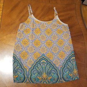 Cabi patterned chiffon camisol sz M